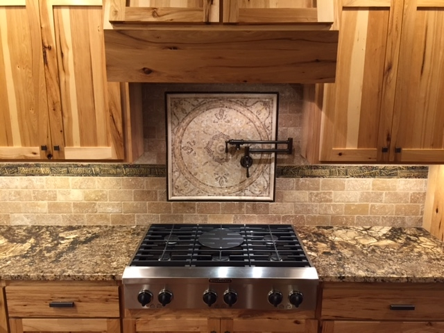 Craftsman Style Stovetop with Cabinets