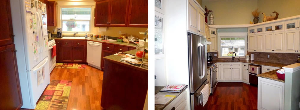 Custom Kitchen - Before and After