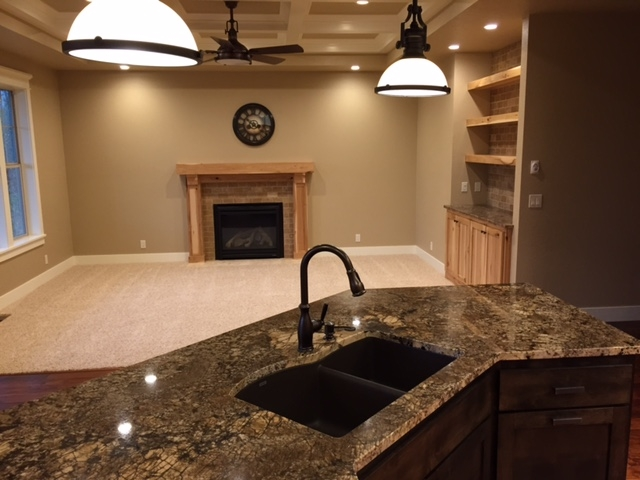 Open Kitchen with Island Sink