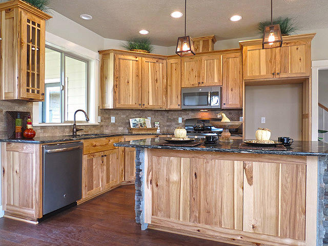 Craftsman Style Kitchen with Rustic Hickory Cabinets