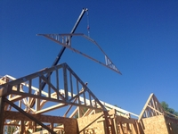 Truss Installation on New Construction thumbnail
