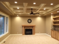 Living Room with Vaulted Ceiling and Fireplace thumbnail